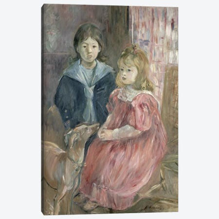 Double Portrait Of Charley And Jeannie Thomas, Children Of The Artist's Cousin, Gabriel Thomas, 1894 Canvas Print #BMN1368} by Berthe Morisot Art Print