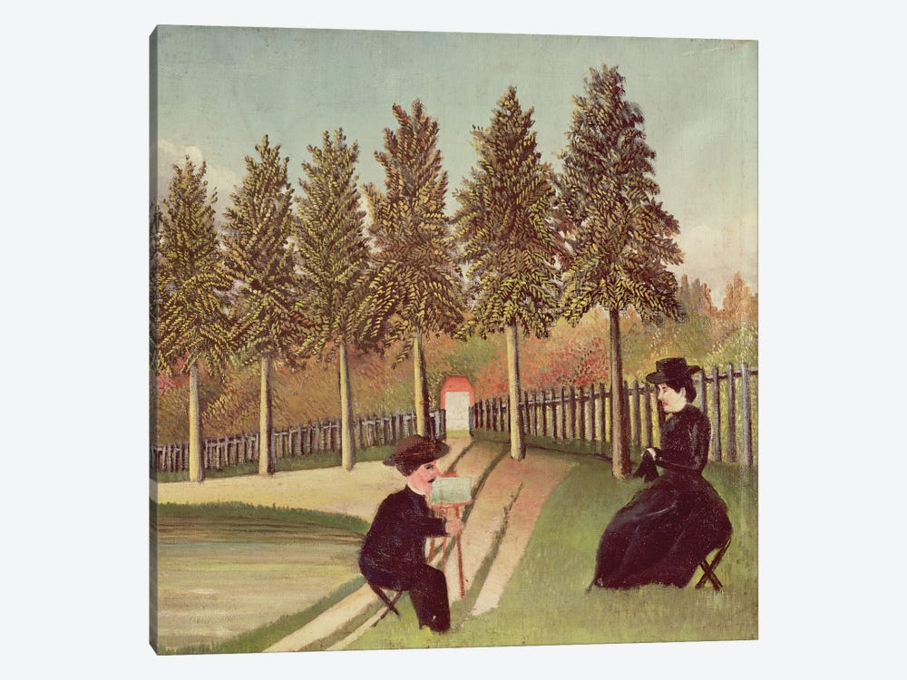 The Artist Painting His Wife, 1900-05 by Henri Rousseau 1-piece Canvas Wall Art