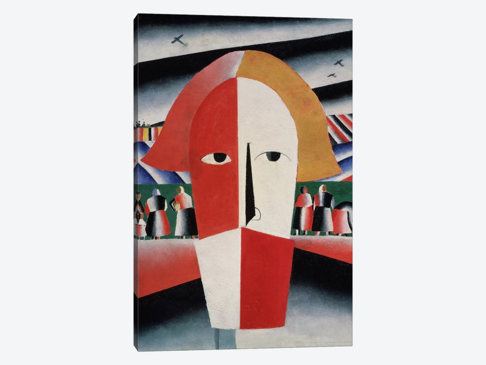 Head of a Peasant, c.1930 (oil on plywood) by Kazimir Severinovich Malevich 1-piece Art Print