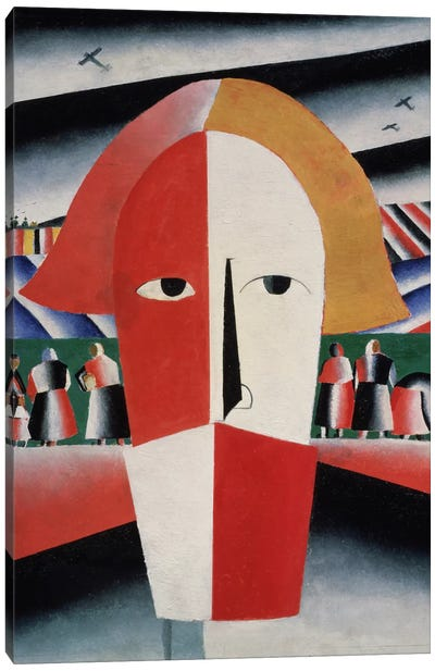 Head of a Peasant, c.1930 (oil on plywood) Canvas Art Print