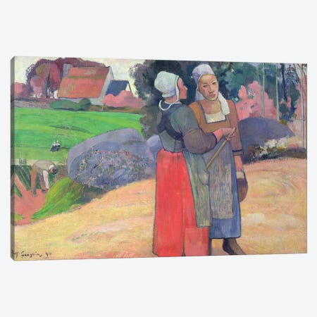Breton Peasants, 1894  Canvas Print #BMN1370} by Paul Gauguin Canvas Wall Art