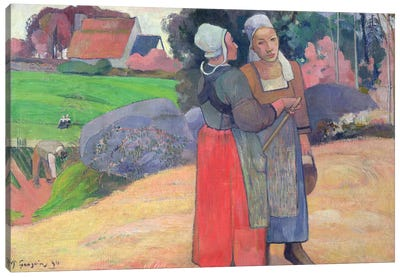 Breton Peasants, 1894  Canvas Art Print