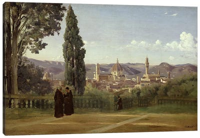 View of Florence from the Boboli Gardens, c.1834-36  Canvas Art Print