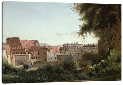 View of the Colosseum from the Farnese Gardens, 1826  Canvas Art Print