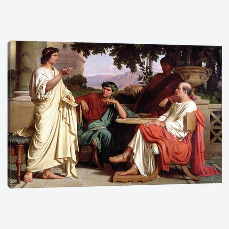Horace, Virgil and Varius at the house of Maecenas Canvas Print #BMN1375} by Charles Francois Jalabert Art Print