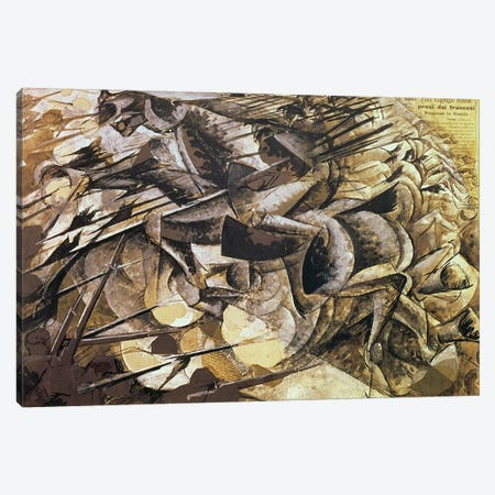 The Charge of the Lancers, 1915  Canvas Print #BMN1376} by Umberto Boccioni Canvas Art Print