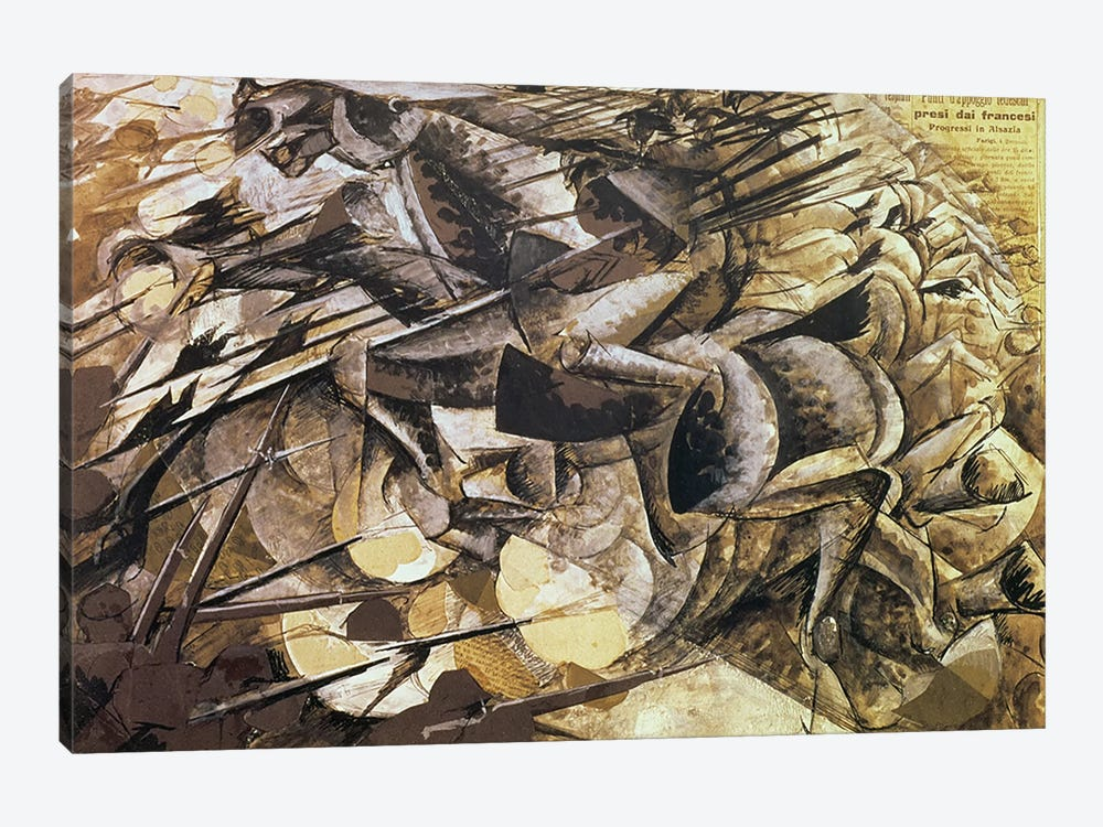 The Charge of the Lancers, 1915  by Umberto Boccioni 1-piece Canvas Art