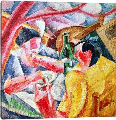 Under the Pergola at Naples, 1914 Canvas Art Print