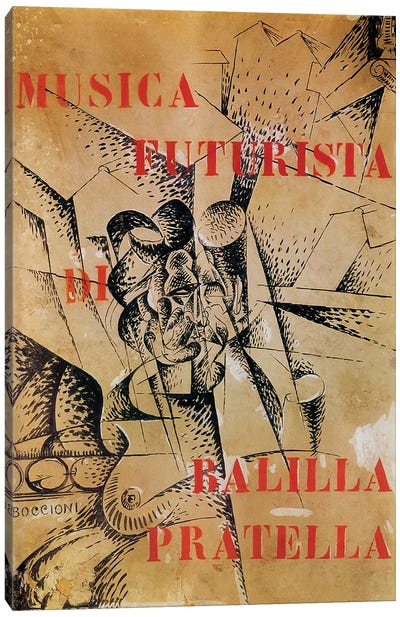 Design for the cover of 'Musica Futurista' by Francesco Balilla Pratella  Canvas Art Print