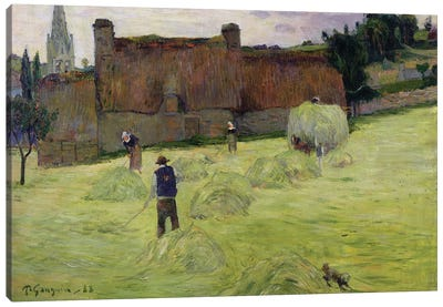 Haymaking in Brittany, 1888  Canvas Art Print
