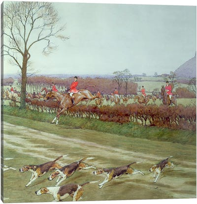 The Cheshire - away from Tattenhall, 1912  Canvas Print #BMN1381