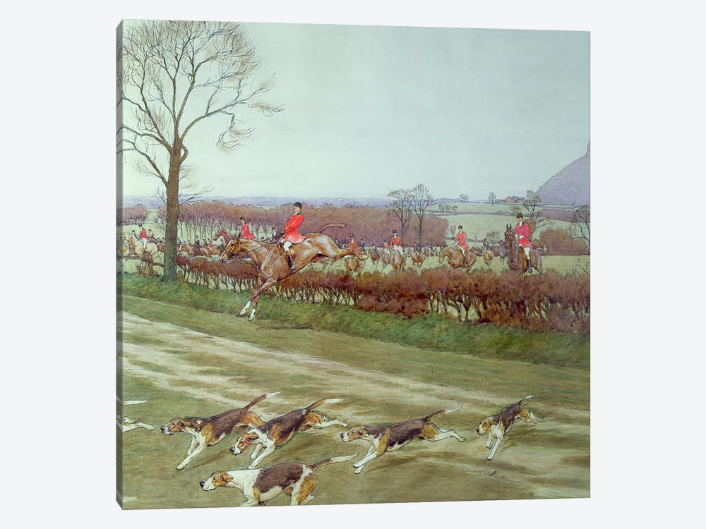 The Cheshire - away from Tattenhall, 1912  by Cecil Charles Windsor Aldin 1-piece Canvas Artwork