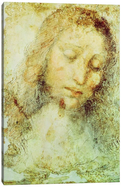 Head of Christ by Leonardo da Vinci Canvas Print