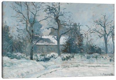 Piette's House at Montfoucault, Snow Effect, 1874  Canvas Art Print