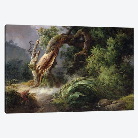 The Oak and the Reed, 1816  Canvas Print #BMN1386} by Achille Etna Michallon Canvas Artwork