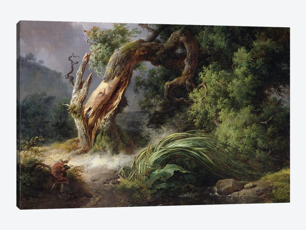 The Oak and the Reed, 1816  by Achille Etna Michallon 1-piece Canvas Print