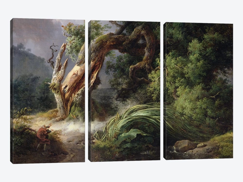 The Oak and the Reed, 1816  by Achille Etna Michallon 3-piece Art Print