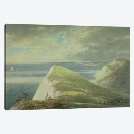 No.2372 Shakespeare's Cliff, Dover  Canvas Print #BMN1387} by William Payne Canvas Artwork