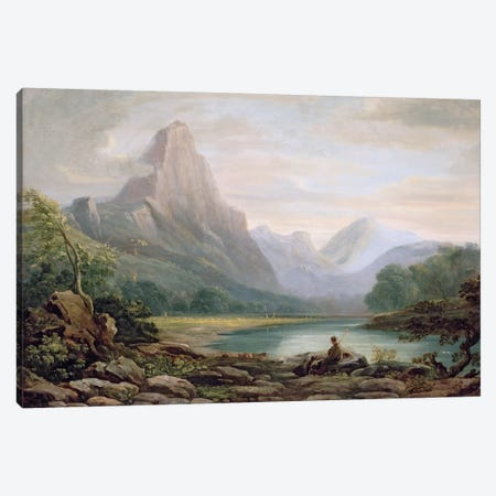 A Welsh Valley, 1819  Canvas Print #BMN1388} by John Varley Canvas Print