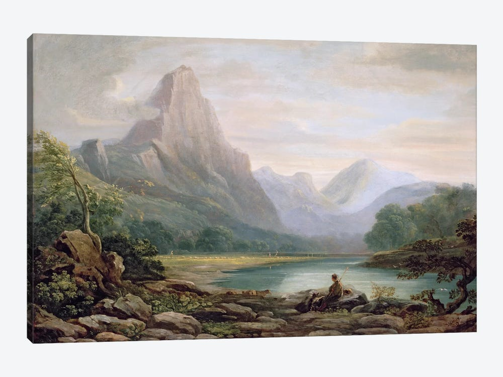 A Welsh Valley, 1819 by John Varley 1-piece Canvas Art Print