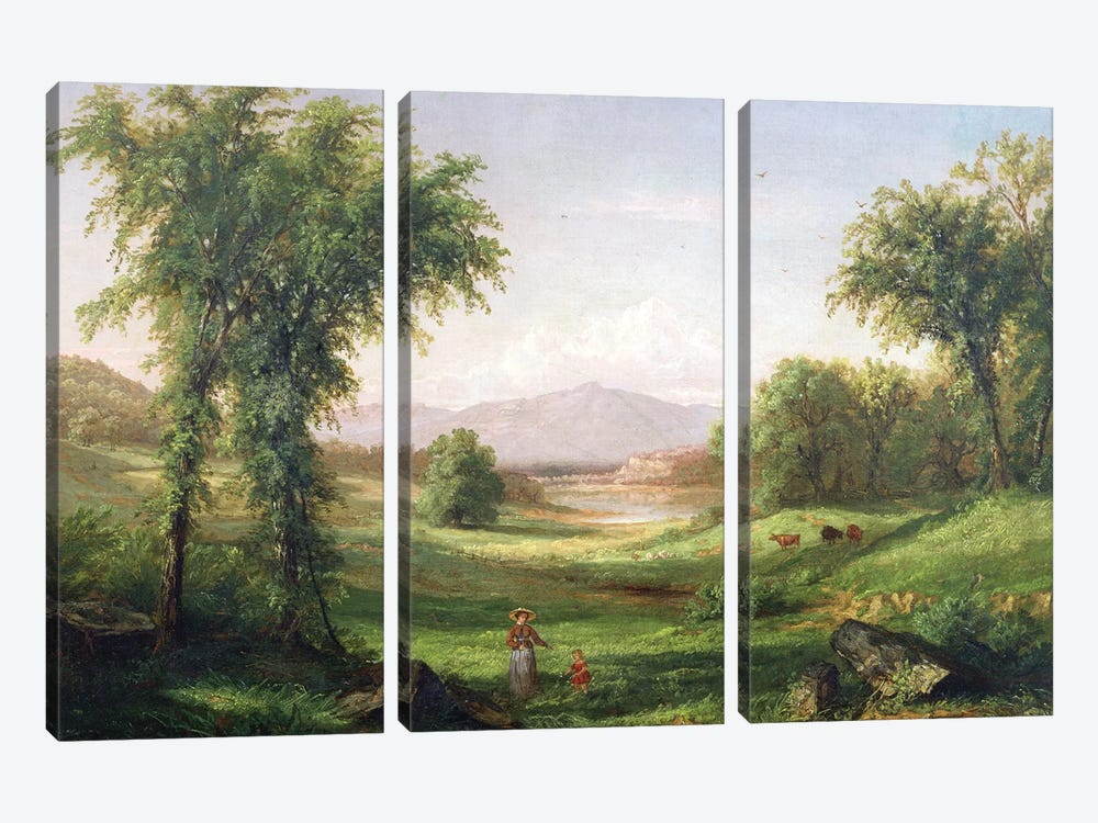 New Hampshire landscape  by Samuel Colman 3-piece Canvas Wall Art