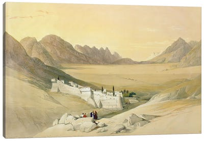 The Convent Of St. Catherine, Mount Sinai, Plain Of The Encampment In The Background (Feb. 21st, 1839), The Holy Land Vol. III Canvas Art Print