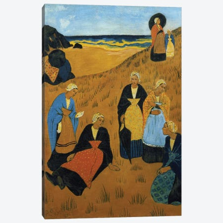 Young Breton Women wearing Shawls, or The Girls of Douarnenez, 1895 Canvas Print #BMN1391} by Paul Serusier Canvas Artwork