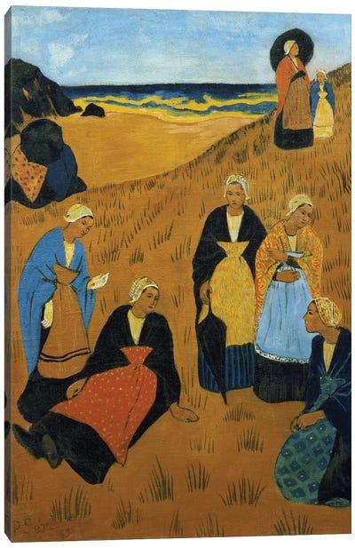 Young Breton Women wearing Shawls, or The Girls of Douarnenez, 1895 Canvas Art Print