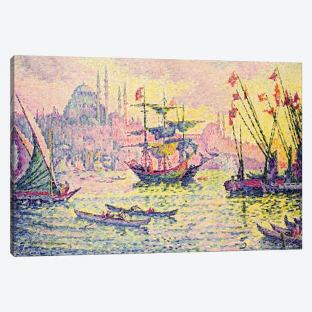 View of Constantinople, 1907  Canvas Print #BMN1392} by Paul Signac Canvas Artwork