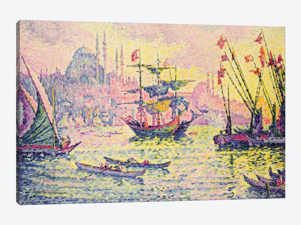 View of Constantinople, 1907  by Paul Signac 1-piece Canvas Wall Art