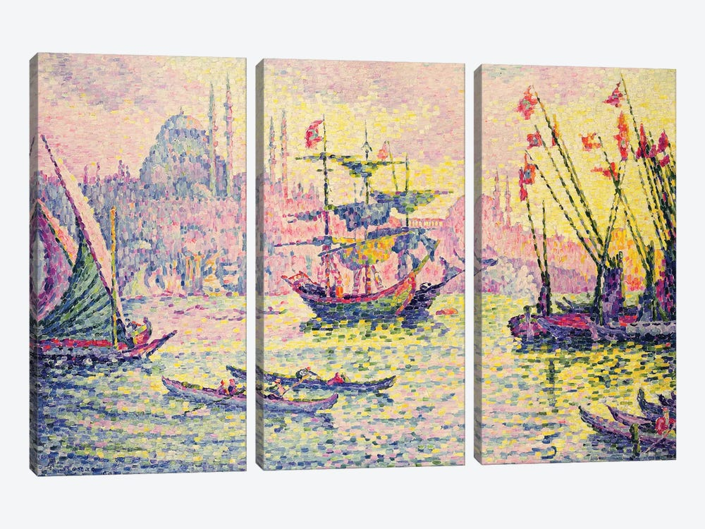 View of Constantinople, 1907  by Paul Signac 3-piece Canvas Wall Art