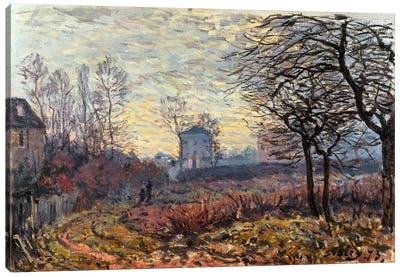 Landscape near Louveciennes, 1873 Canvas Art Print