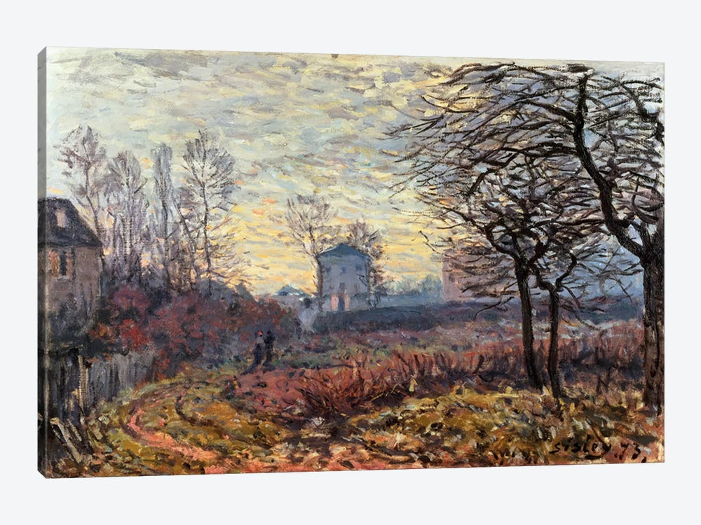 Landscape near Louveciennes, 1873 by Alfred Sisley 1-piece Canvas Art