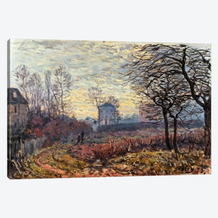 Landscape near Louveciennes, 1873 3-Piece Canvas #BMN1394} by Alfred Sisley Canvas Art Print