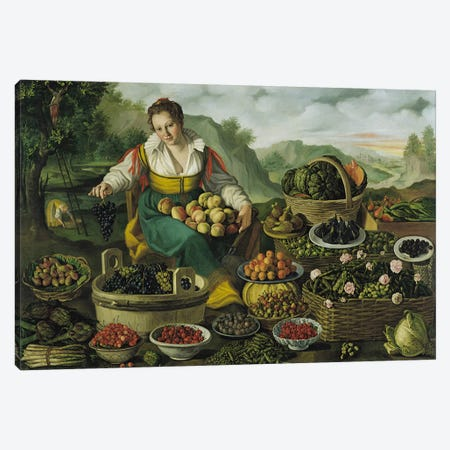 The Fruit Seller  Canvas Print #BMN1395} by Vincenzo Campi Canvas Art Print