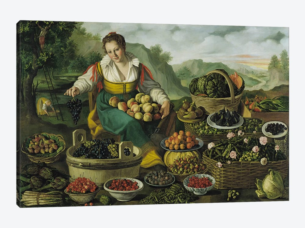 The Fruit Seller  by Vincenzo Campi 1-piece Art Print