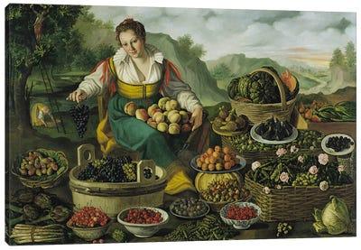 The Fruit Seller  Canvas Art Print