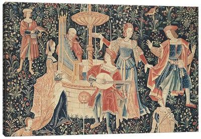 The Concert at the Fountain, Loire workshop, c.1570-80  Canvas Art Print