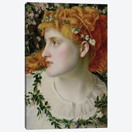 Perdita c.1866  Canvas Print #BMN1399} by Anthony Frederick Augustus Sandys Canvas Artwork