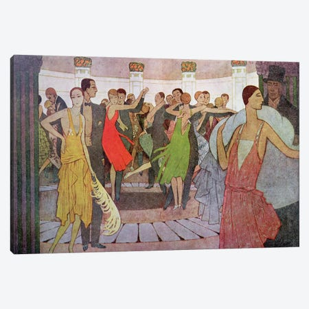 Paris by Night, a dance club in Montmartre Canvas Print #BMN13} by Manuel Orazi Canvas Print
