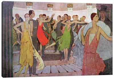 Paris by Night, a dance club in Montmartre Canvas Art Print