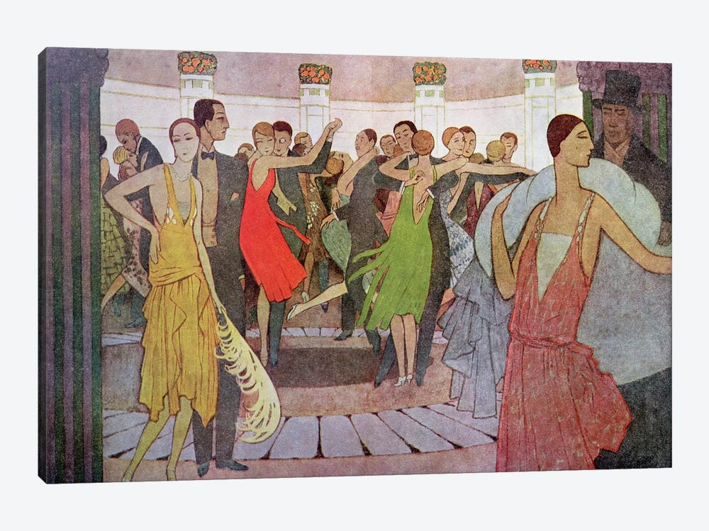 Paris by Night, a dance club in Montmartre by Manuel Orazi 1-piece Canvas Artwork