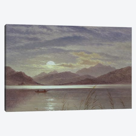 Lake Scene by Moonlight, 1879  Canvas Print #BMN1400} by Arthur Gilbert Canvas Art
