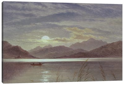 Lake Scene by Moonlight, 1879  Canvas Art Print