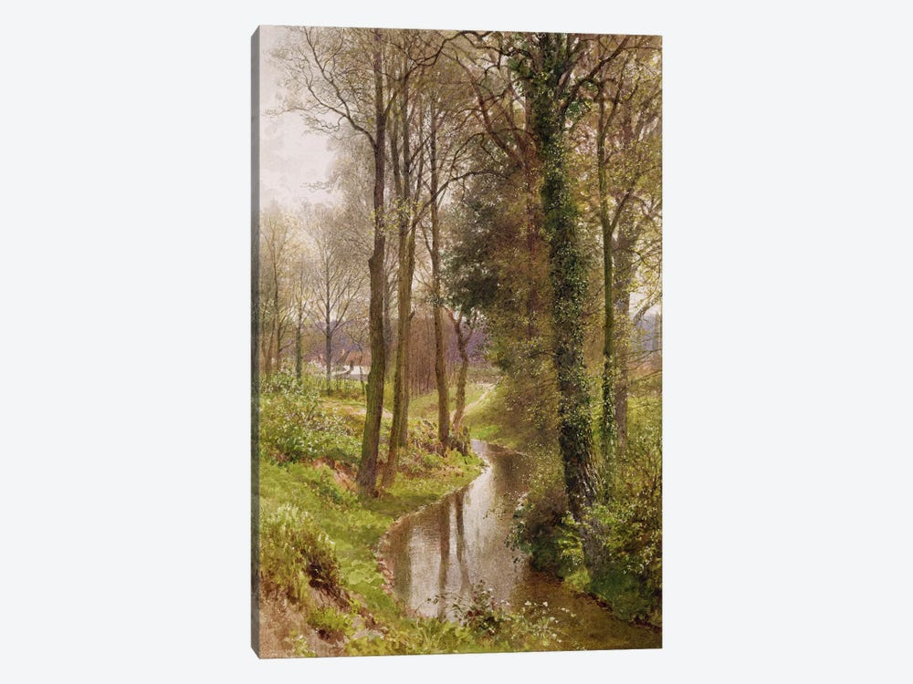 Round My House: The Mill Stream, Ockham, 1880-86  by Henry Sutton Palmer 1-piece Canvas Art Print