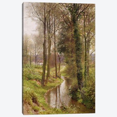 Round My House: The Mill Stream, Ockham, 1880-86  Canvas Print #BMN1401} by Henry Sutton Palmer Canvas Wall Art