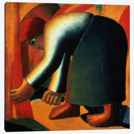 Woman Cutting, c.1900 Canvas Print #BMN1402} by Kazimir Malevich Canvas Art