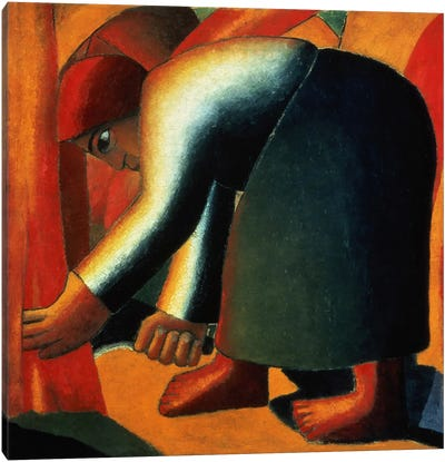Woman Cutting, c.1900 Canvas Print #BMN1402