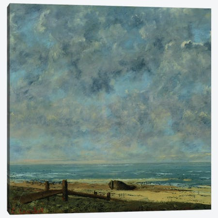 The Sea, c.1872  Canvas Print #BMN1404} by Gustave Courbet Canvas Art Print