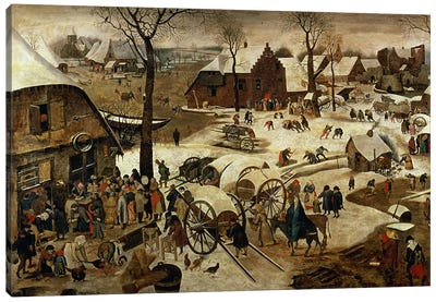 The Payment of the Tithe or The Census at Bethlehem Canvas Art Print